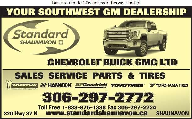 Standard Shaunavon - Auto Dealers New Cars Digital Ad