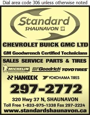 Standard Shaunavon - Tire Dealers Retail Digital Ad