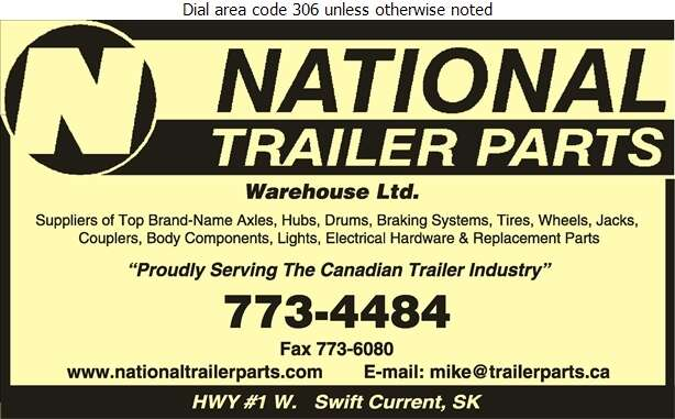 National Trailer Parts Warehouse Ltd - Trailers Equipment & Parts Digital Ad