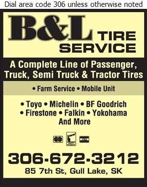 B & L Tire Service - Tire Dealers Retail Digital Ad
