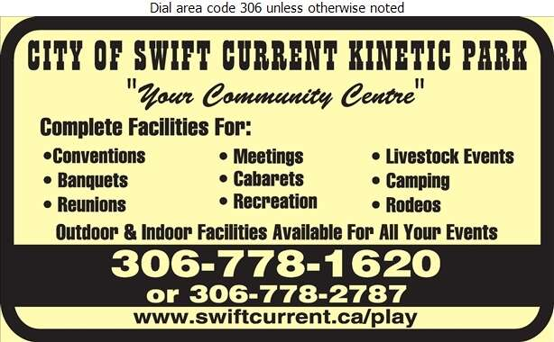 Kinetic Park - Convention Services & Facilities Digital Ad