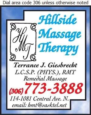 Hillside Massage Therapy - Massage Therapists Digital Ad
