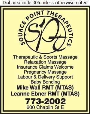 Source Point Therapeutics (Mike Wall RMT (MTAS)) - Massage Therapists Digital Ad