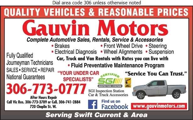 Gauvin Motors - Auto Repairing Digital Ad