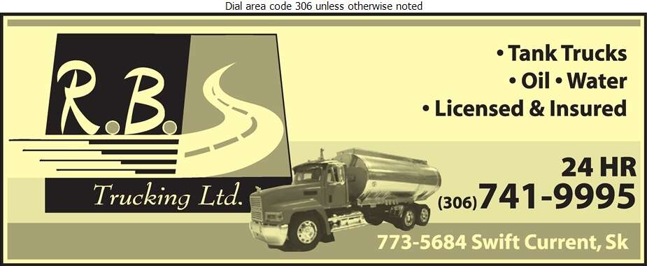 R B Trucking Ltd - Oil & Gas Well Transportation Digital Ad