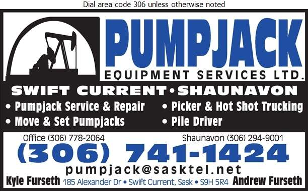 Pumpjack Equipment Services Ltd (Office) - Oil & Gas Well Service Digital Ad