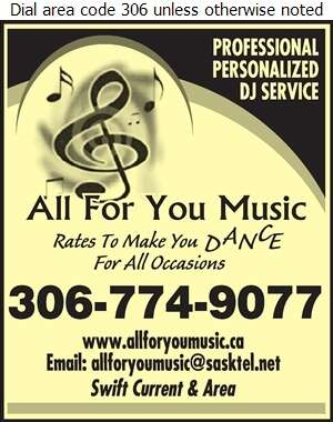 All For You Music - Disc Jockeys Digital Ad