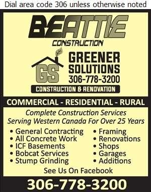 Beattie Construction - Concrete Contractors Digital Ad