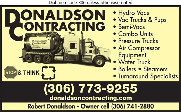Donaldson Contracting Ltd - Oil & Gas Well Service Digital Ad
