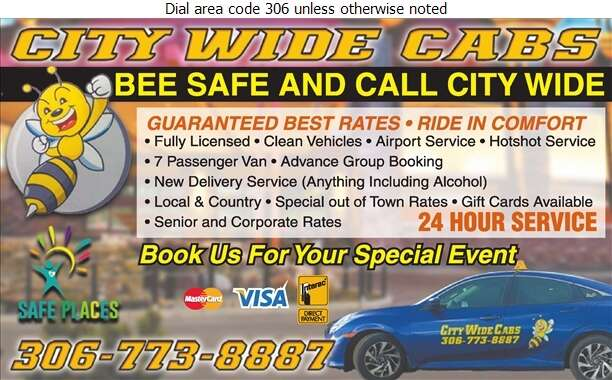 City Wide Cabs - Taxicabs Digital Ad
