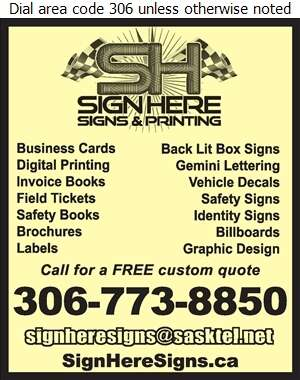 Sign Here Signs & Printing - Printers Digital Ad