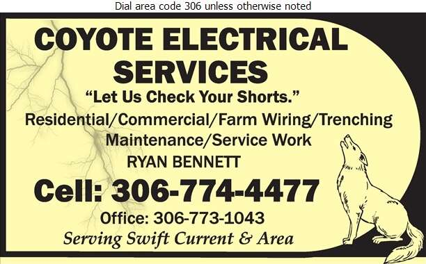 Coyote Electrical Services - Electric Contractors Digital Ad
