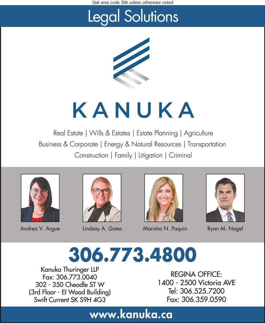 Kanuka Thuringer LLP (Andrea V Argue) - Lawyers Digital Ad