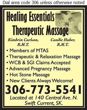 Healing Essentials Massage Therapy - Massage Therapists Digital Ad
