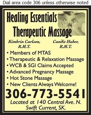 Healing Essentials Massage Therapy - Massage Therapists Digital Ad