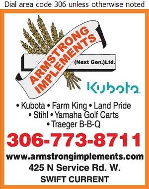 Armstrong Implements (1993) Ltd - Agricultural Implements Sales, Service & Parts Digital Ad