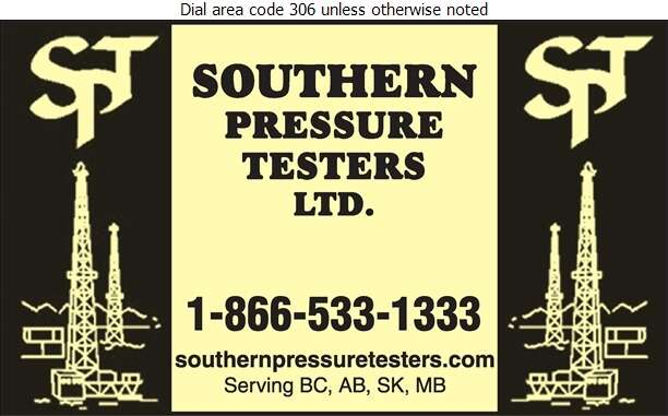 Southern Pressure Testers Ltd - Oil & Gas Well Service Digital Ad