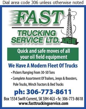 Fast Trucking Service Ltd - Oil & Gas Well Service Digital Ad