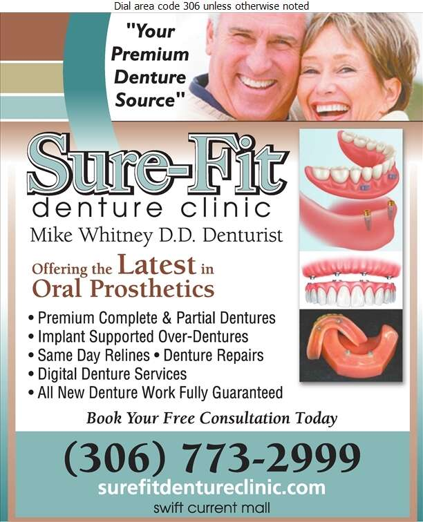 Sure-Fit Denture Clinic - Denturists Digital Ad