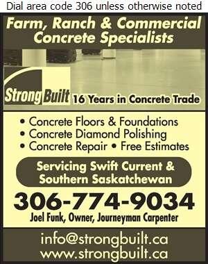 Strong Built Construction Ltd - Concrete Repairs & Restoration Digital Ad