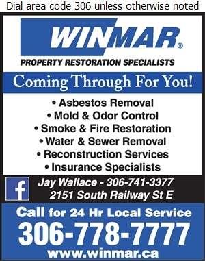 Winmar Property Restoration - Asbestos Removal Supplies & Services Digital Ad