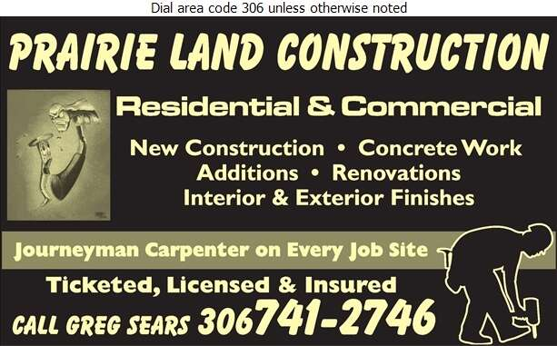 Prairie Land Construction - Contractors General Digital Ad