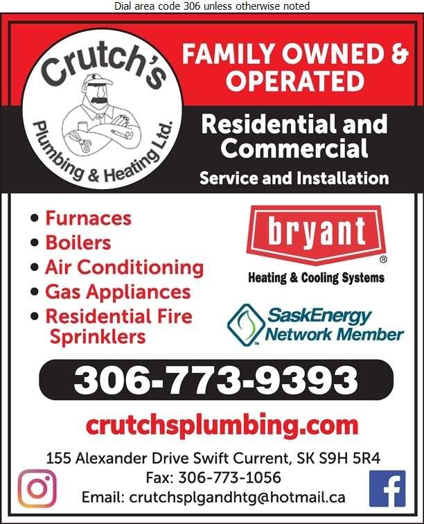 Crutch's Plumbing & Heating Ltd - Plumbing Contractors Digital Ad