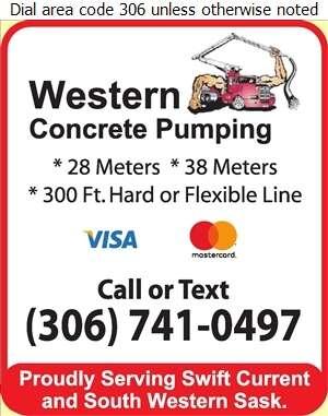 Western Concrete Pumping - Concrete Pumping Service Digital Ad