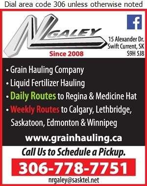 N & L Galey Land & Cattle Inc - Grain Hauling Digital Ad