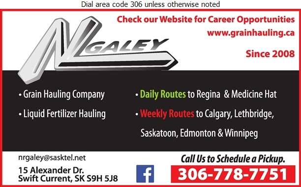 N & L Galey Land & Cattle Inc - Trucking Digital Ad