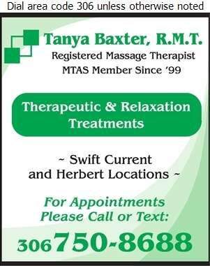 Baxter Tanya Massage Therapist - Massage Therapists Digital Ad