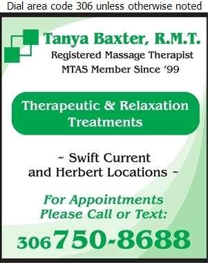 Baxter Tanya Massage Therapist - Massage Therapists Digital Ad