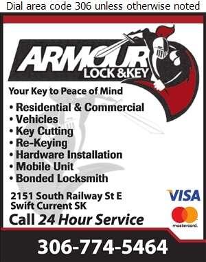 Armour Lock & Key - Locksmiths Digital Ad