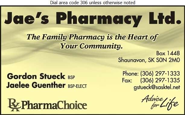 Jae's Pharmacy Ltd - Pharmacies Digital Ad