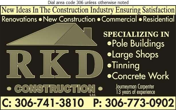 RKD Construction - Builders & Contractors Digital Ad