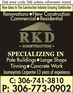 RKD Construction - Concrete Contractors Digital Ad