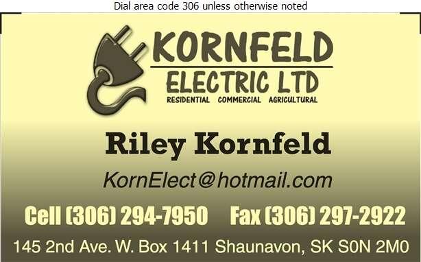 Kornfeld Electric Ltd - Electric Contractors Digital Ad