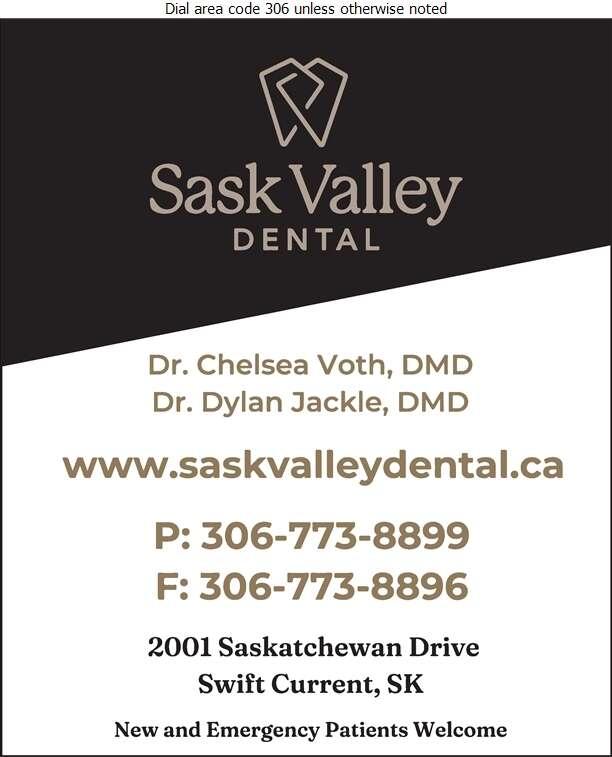Sask Valley Dental - Dentists Digital Ad