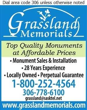 Grassland Memorials - Monuments Digital Ad