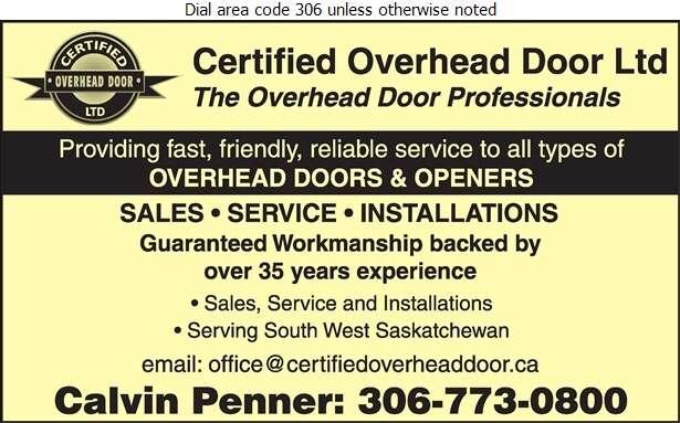 Certified Maintenance - Doors Overhead Digital Ad