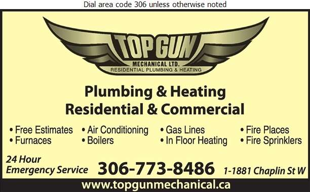 Top Gun Mechanical Ltd - Plumbing Contractors Digital Ad