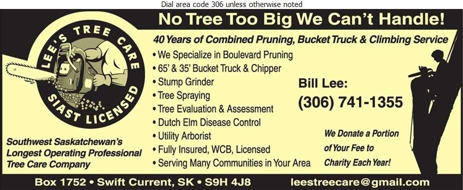 Lee's Tree Care - Tree Service & Stump Removal Digital Ad