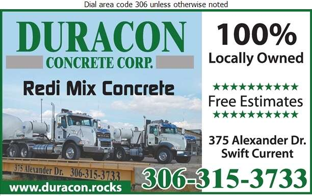 Duracon Concrete Corp - Concrete Ready Mixed Digital Ad