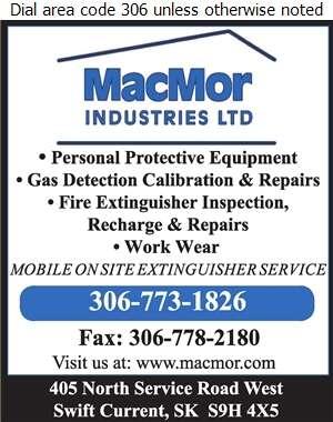 MacMor Industries Ltd (www.macmor.com) - Fire Extinguishers Digital Ad