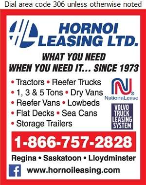 Hornoi Leasing Ltd - Trailers Renting & Leasing Digital Ad