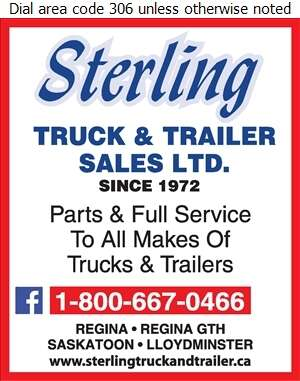 Sterling Truck & Trailer Sales Ltd - Truck Repairing & Service Digital Ad