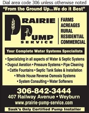 Prairie Pump Service (1994) Ltd - Septic Tanks Sales & Service Digital Ad