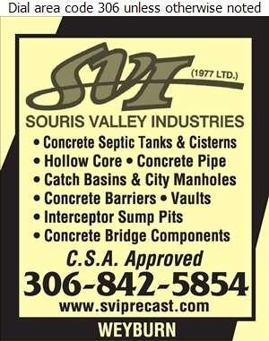 Souris Valley Industries (1977) Ltd - Septic Tanks Sales & Service Digital Ad