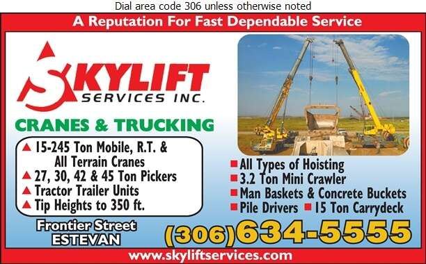 Skylift Services Inc - Cranes Digital Ad