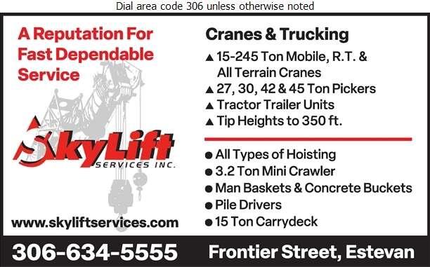 Skylift Services Inc - Cranes Digital Ad